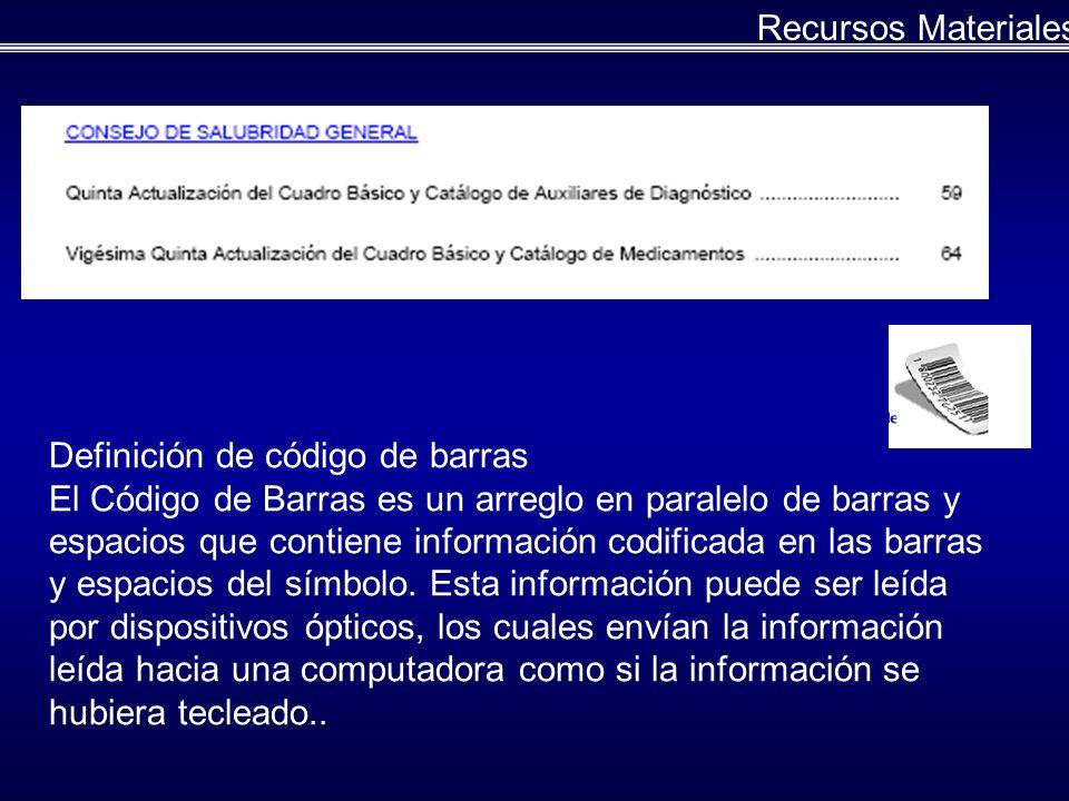 Definición de código de barras El Código de Barras es un arreglo en paralelo de barras y espacios que contiene información codificada en las barras y espacios del símbolo.