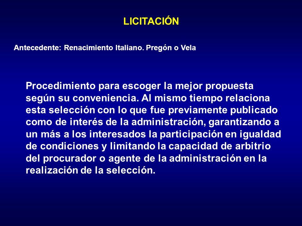 LICITACIÓN Antecedente: Renacimiento Italiano.