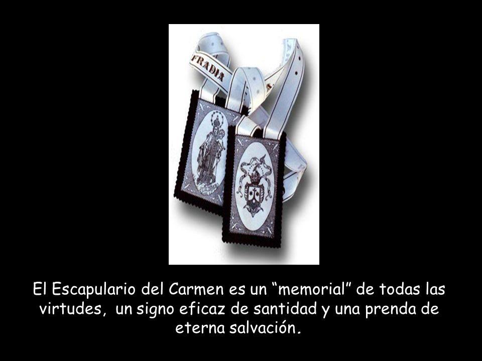 El escapulario del Carmen es el signo externo de devoción mariana, que consiste en la consagración a la Santísima Virgen María por la inscripción en l