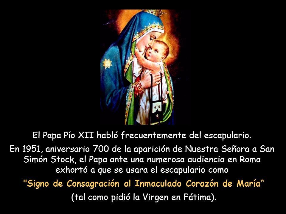 El Beato Papa Gregorio X fue enterrado con su escapulario solo 25 años después de la Visión del Escapulario. 600 años mas tarde cuando abrieron su tum