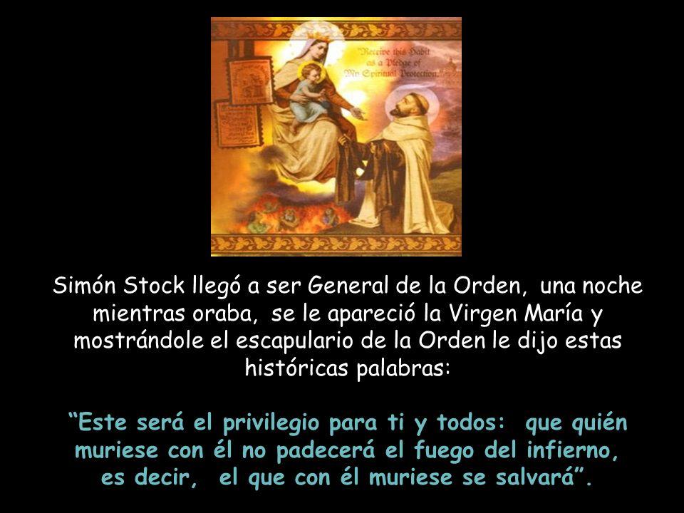 Al enterarse el joven Simón que habían llegado a Inglaterra unos religiosos que se llamaban Carmelitas o hermanos de la Virgen María, como él amaba ta