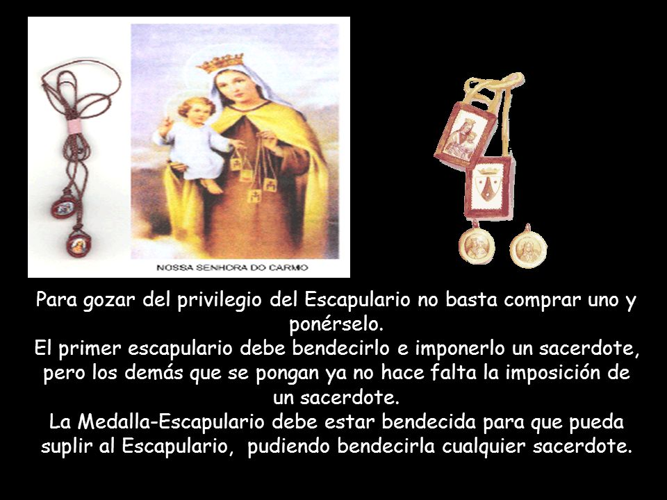 San Alfonso Maria de Ligorio Tenía una especial devoción a la Virgen del Carmen y usaba el escapulario.