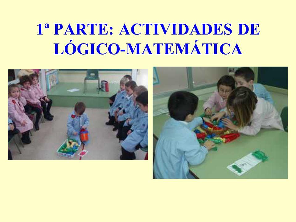 1ª PARTE: ACTIVIDADES DE LÓGICO-MATEMÁTICA