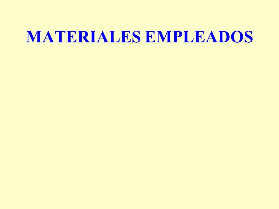 MATERIALES EMPLEADOS