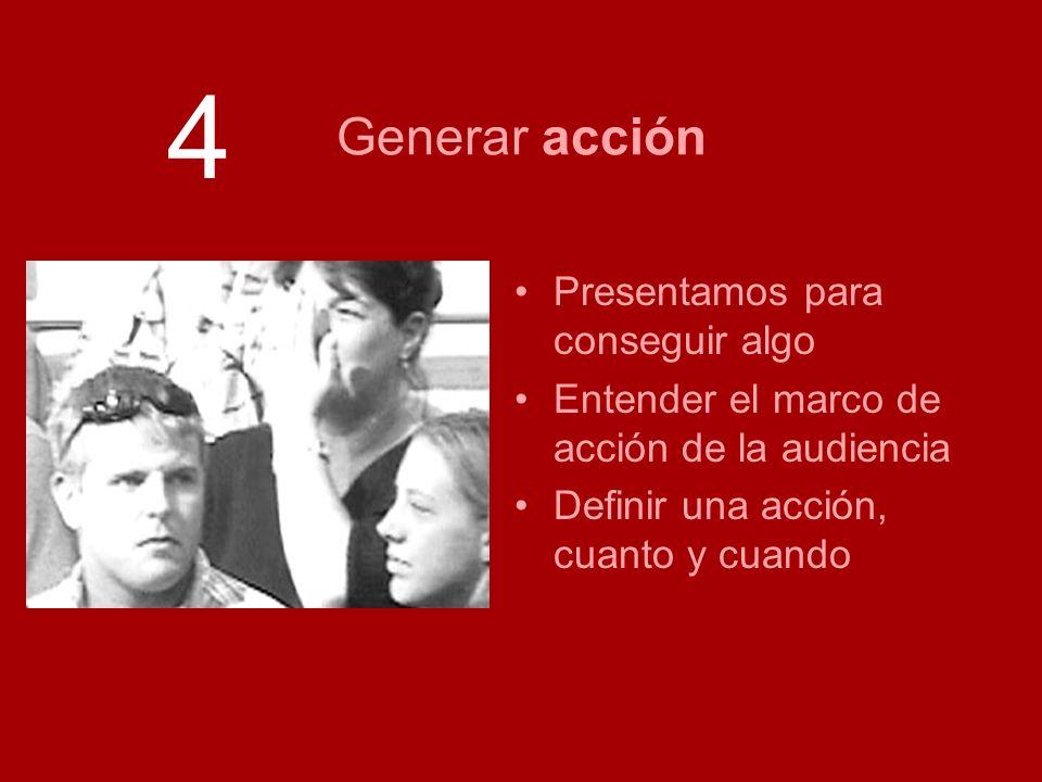 Análisis de logs Presentamos para conseguir algo Entender el marco de acción de la audiencia Definir una acción, cuanto y cuando Generar acción 4