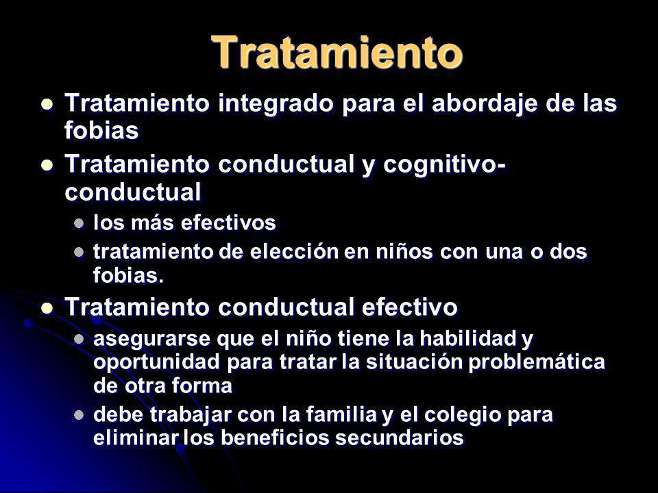 Tratamiento Tratamiento integrado para el abordaje de las fobias Tratamiento integrado para el abordaje de las fobias Tratamiento conductual y cogniti