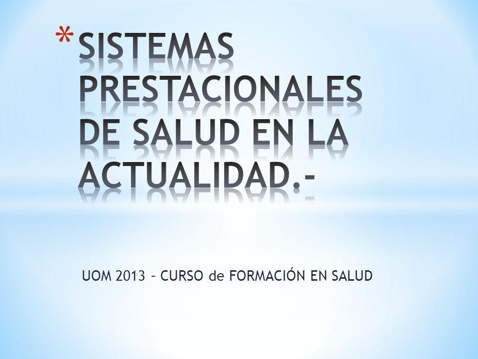 UOM 2013 – CURSO de FORMACIÓN EN SALUD
