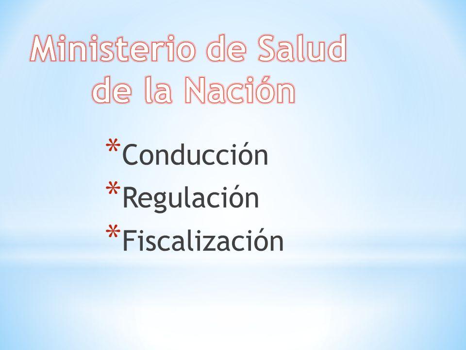 * Conducción * Regulación * Fiscalización