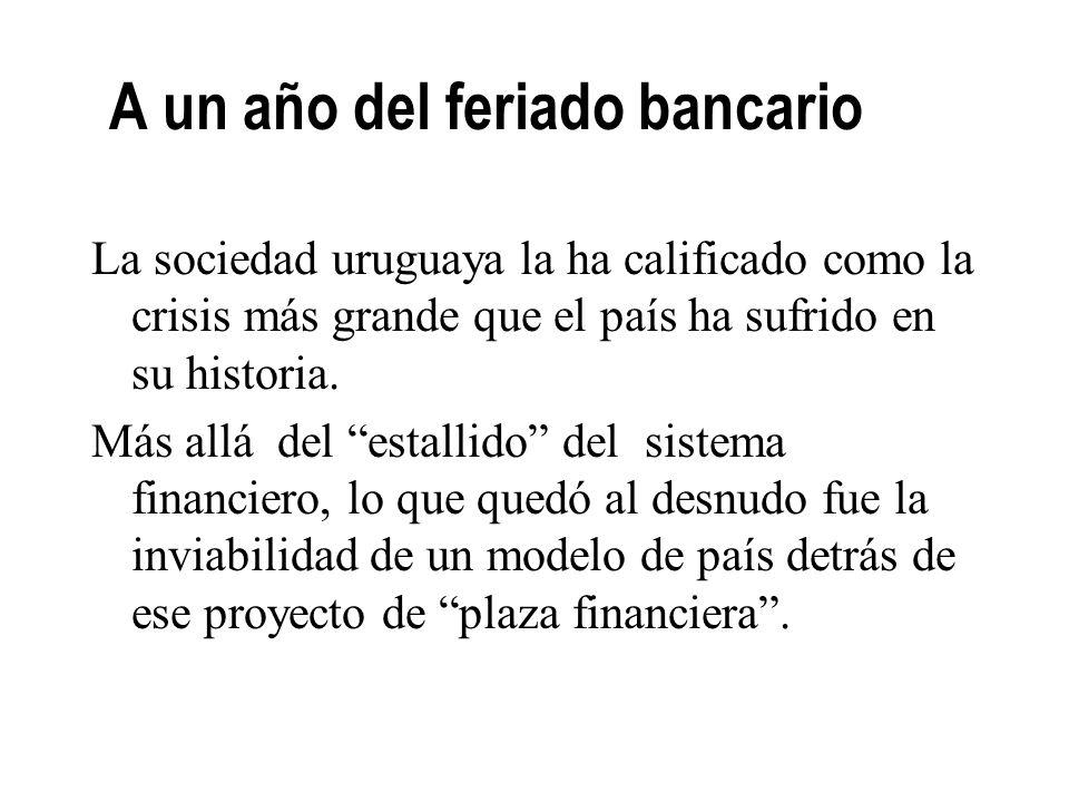 16 Las crisis bancarias anteriores La intervención del Estado en los bancos gestionados: 3 evitó el cierre de instituciones, 3 posibilitó que los depo