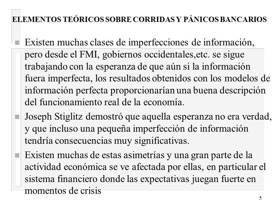 15 Las crisis bancarias anteriores 3 Exigencia la constitución de previsiones por incobrabilidad de los créditos en función de su clasificación de riesgo.