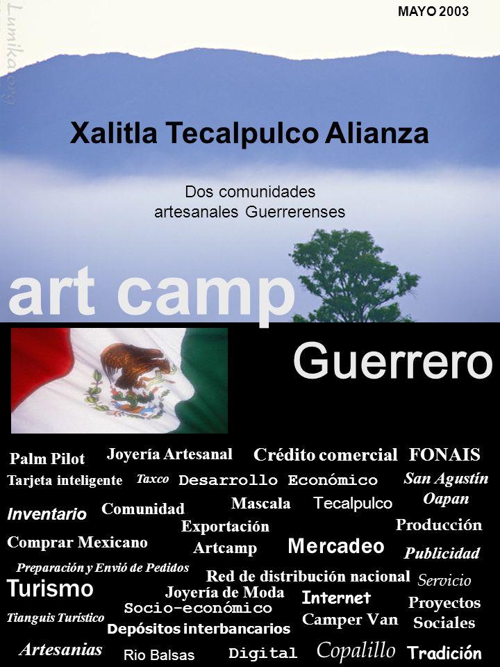 Dos comunidades artesanales Guerrerenses TAXCO, MEXICO MAYO 2003 Xalitla Tecalpulco Alianza art camp Guerrero Socio-económico Taxco Comunidad Inventar