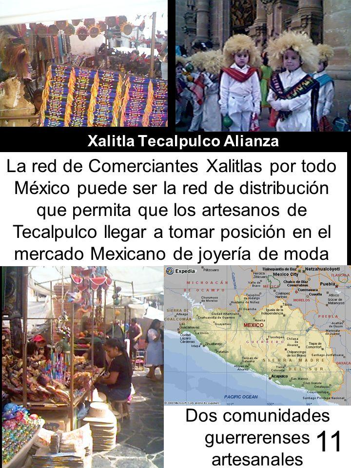 Xalitla Tecalpulco Alianza La red de Comerciantes Xalitlas por todo México puede ser la red de distribución que permita que los artesanos de Tecalpulc