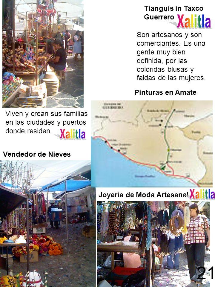 Tianguis in Taxco Guerrero Pinturas en Amate Joyería de Moda Artesanal Vendedor de Nieves Son artesanos y son comerciantes. Es una gente muy bien defi
