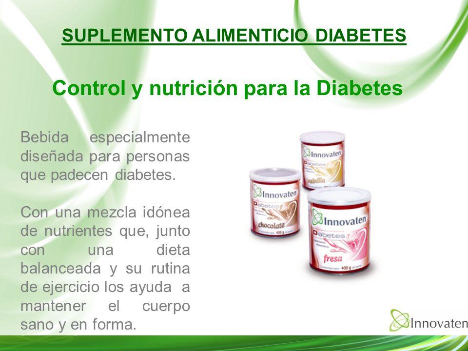Bebida especialmente diseñada para personas que padecen diabetes. Con una mezcla idónea de nutrientes que, junto con una dieta balanceada y su rutina