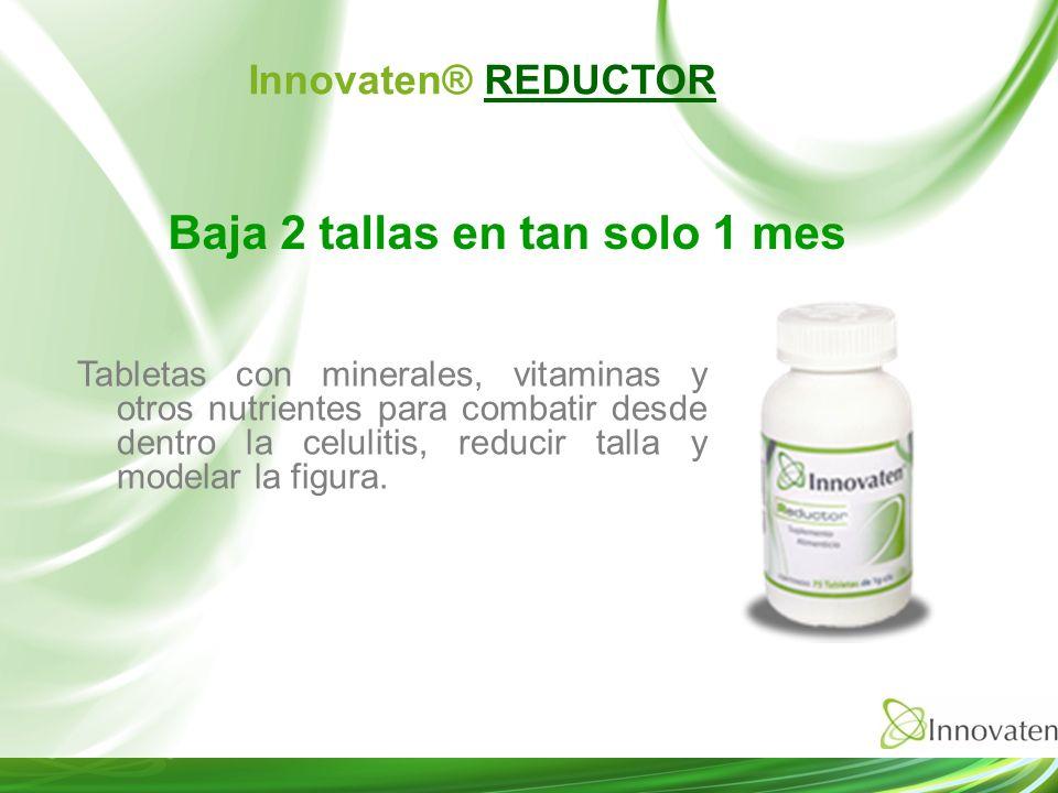 Tabletas con minerales, vitaminas y otros nutrientes para combatir desde dentro la celulitis, reducir talla y modelar la figura. Baja 2 tallas en tan