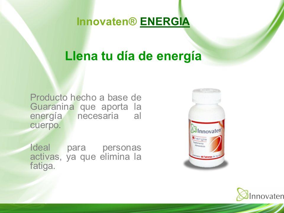 Producto hecho a base de Guaranina que aporta la energía necesaria al cuerpo. Ideal para personas activas, ya que elimina la fatiga. Llena tu día de e
