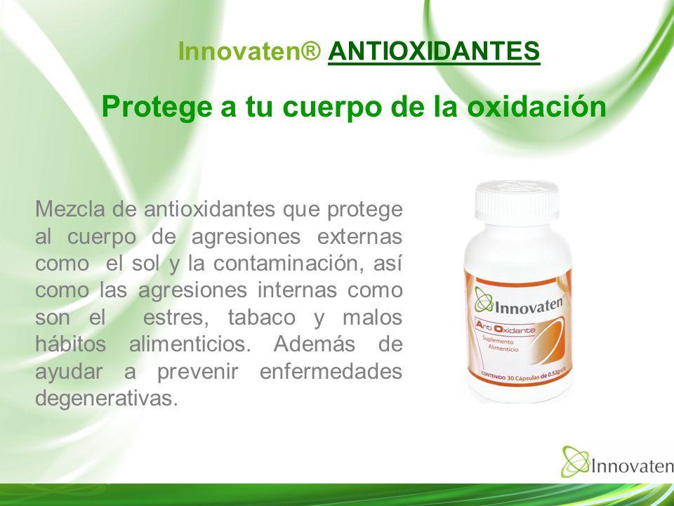 Protege a tu cuerpo de la oxidación Mezcla de antioxidantes que protege al cuerpo de agresiones externas como el sol y la contaminación, así como las