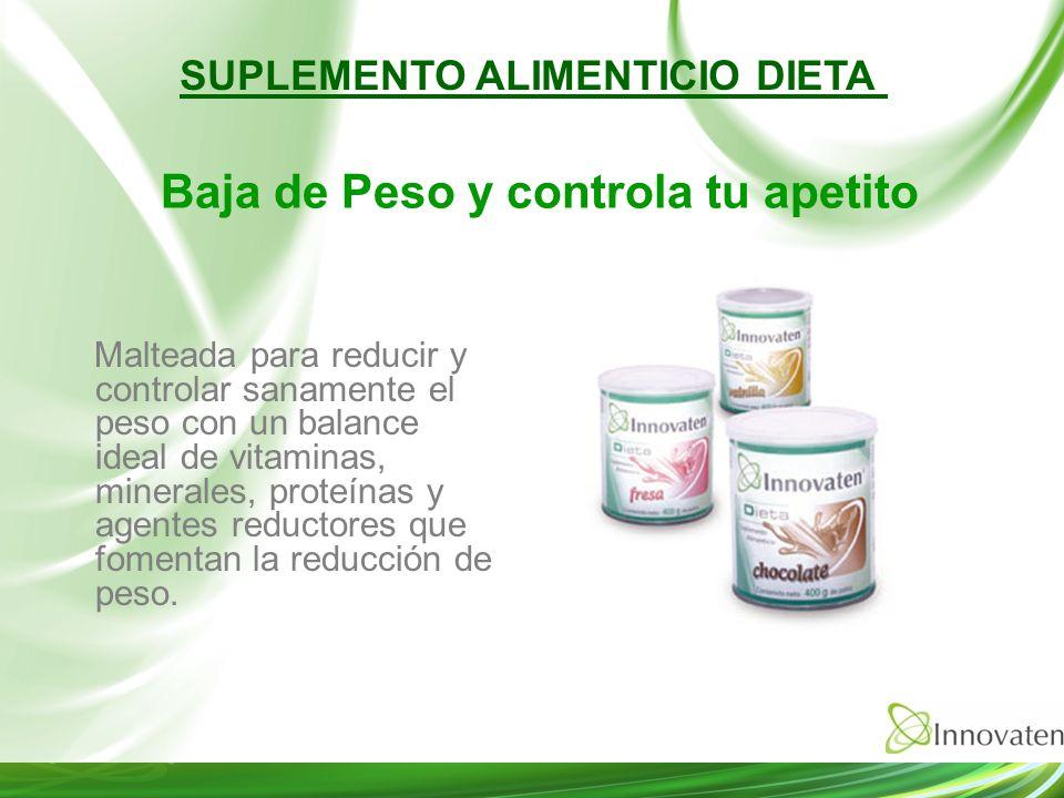 Malteada para reducir y controlar sanamente el peso con un balance ideal de vitaminas, minerales, proteínas y agentes reductores que fomentan la reduc
