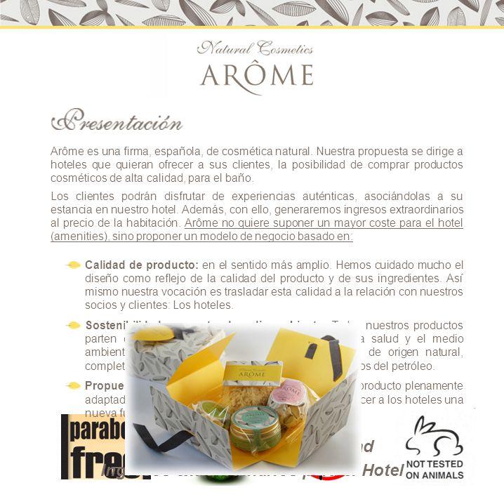 Contacto Comercial: Pablo Bignon info@arome.es t/f 91.844.47.77 Móvil: 630.99.23.55