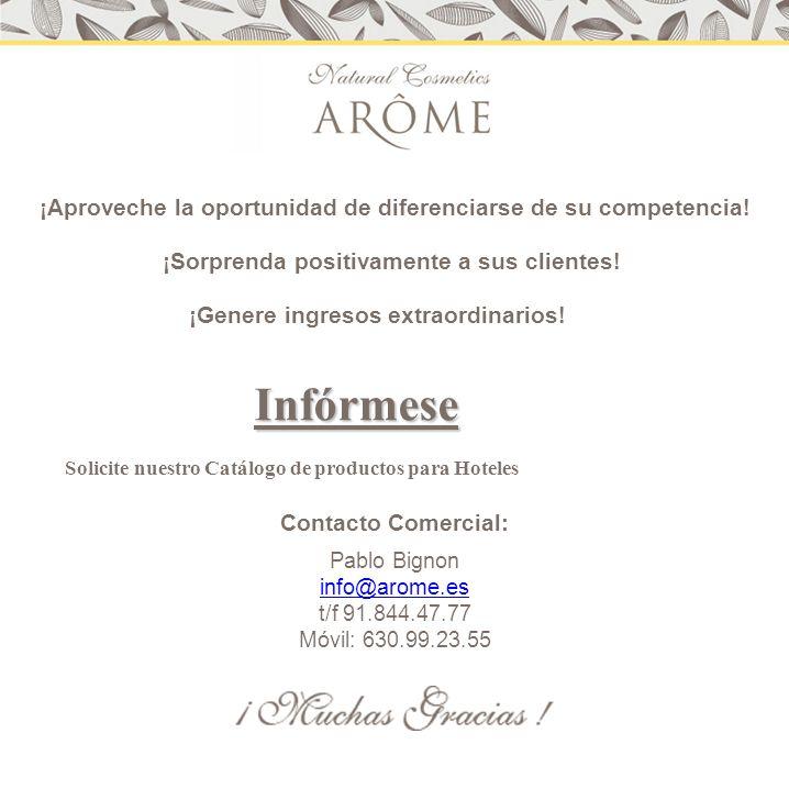 Nueva fuente ingresos: En los tiempos que corren, Arôme quiere proponer un modelo de negocio, que genere ingresos complementarios por la venta de productos para el baño.