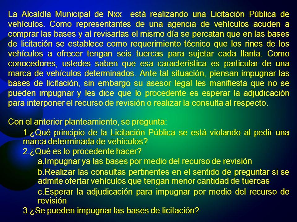 PRINCIPIOS DE LA LICITACION PUBLICA Libre ConcurrenciaLibre Concurrencia IgualdadIgualdad PublicidadPublicidad TransparenciaTransparencia