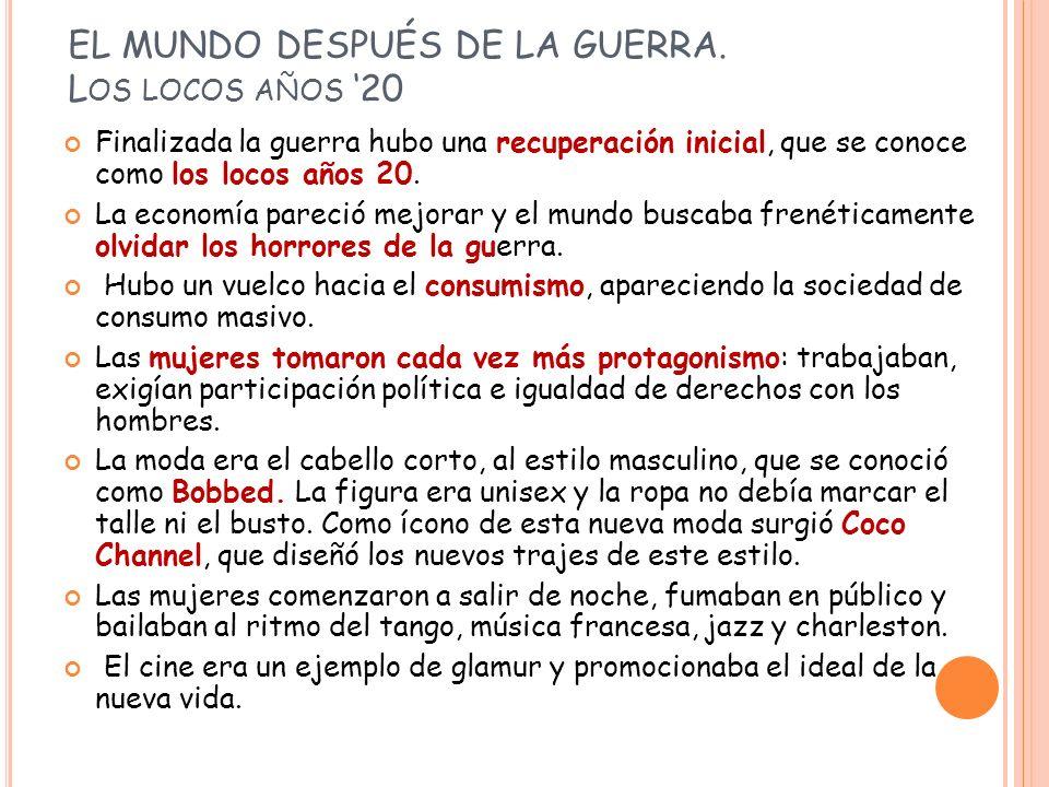 EL MUNDO DESPUÉS DE LA GUERRA.