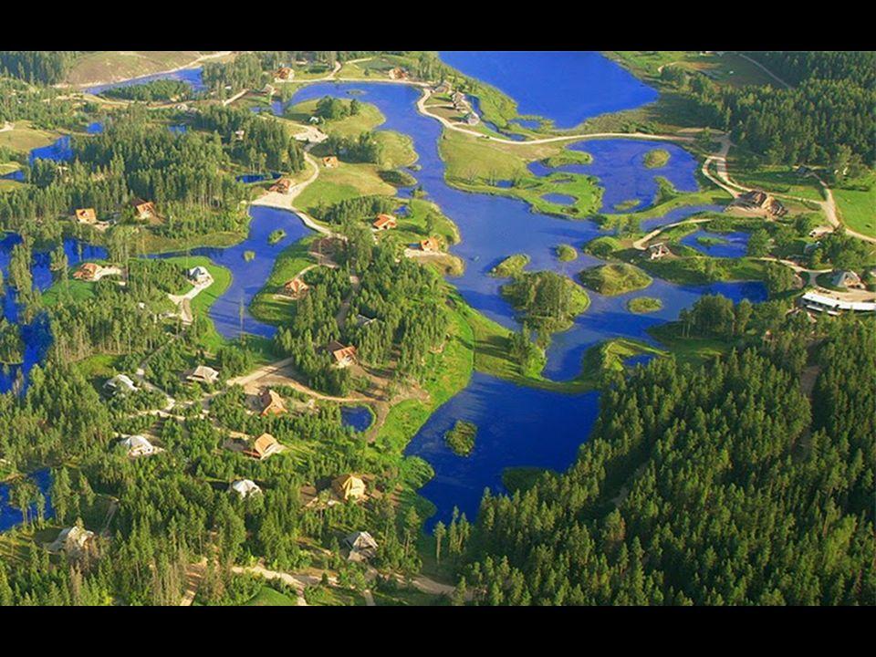 Amatciems sólo tiene reservas naturales de agua dulce - estanques, lagos y arroyos. Todos los depósitos están interconectados para alimentar a unos y