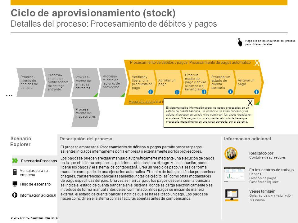 ©© 2012 SAP AG. Reservados todos los derechos. Procesa- miento de inspecciones Procesamiento de débitos y pagos: Procesamiento de pagos automático Ver