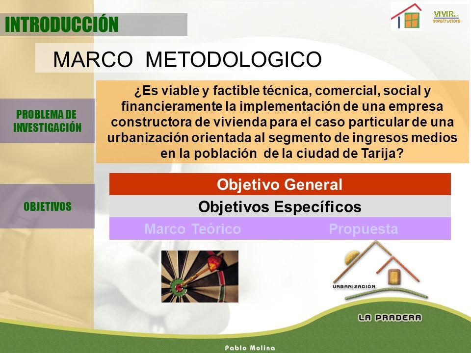 PROBLEMA DE INVESTIGACIÓN ¿Es viable y factible técnica, comercial, social y financieramente la implementación de una empresa constructora de vivienda