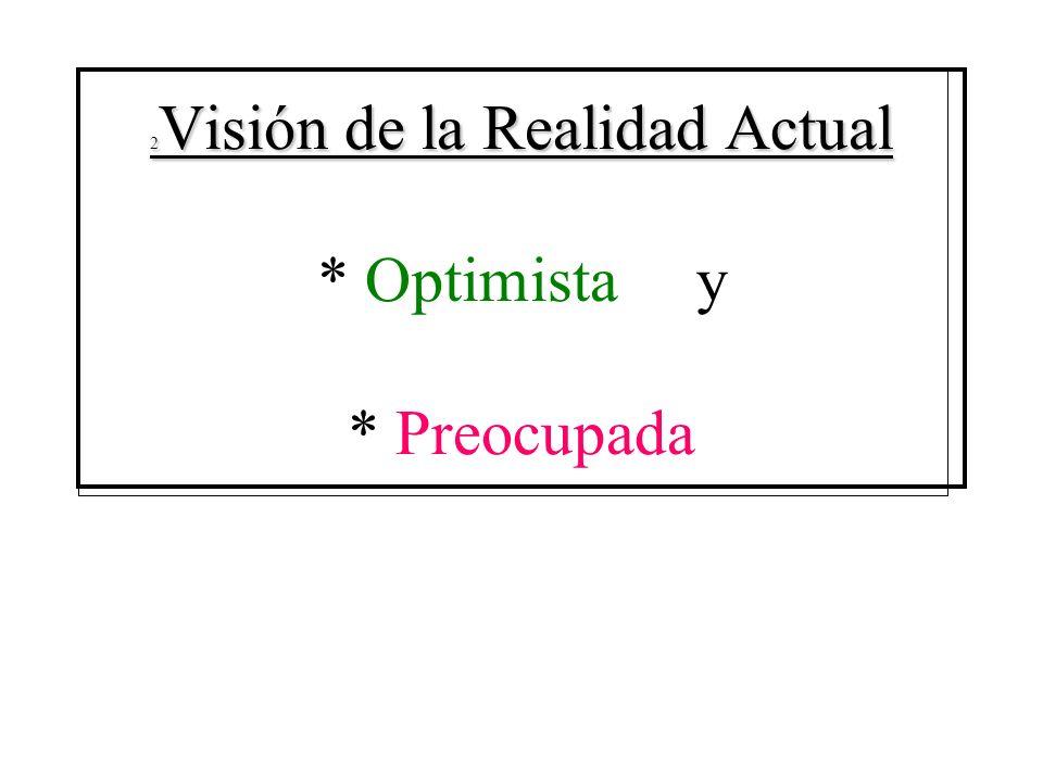 2 Visión de la Realidad Actual 2 Visión de la Realidad Actual * Optimista y * Preocupada