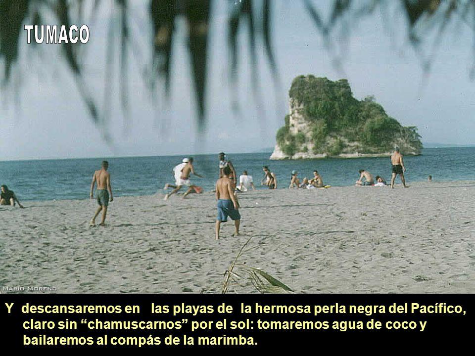 Y descansaremos en las playas de la hermosa perla negra del Pacífico, claro sin chamuscarnos por el sol: tomaremos agua de coco y bailaremos al compás