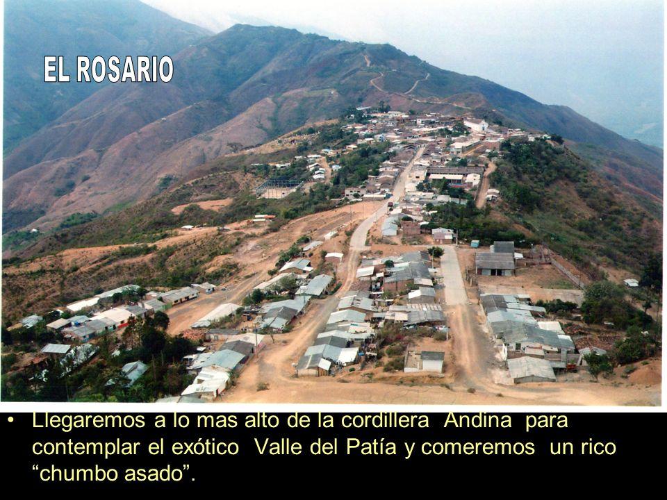Llegaremos a lo mas alto de la cordillera Andina para contemplar el exótico Valle del Patía y comeremos un rico chumbo asado.