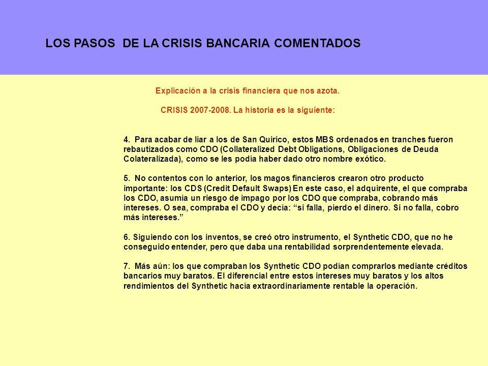 11 Explicación a la crisis financiera que nos azota.