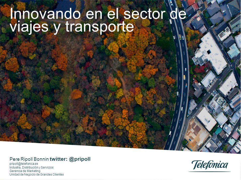 Pere Ripoll Bonnin twitter: @pripoll pripoll@telefonica.es Industra, Distribución y Servicios Gerencia de Marketing Unidad de Negocio de Grandes Clien