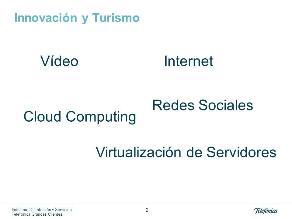 Industria, Distribución y Servicios Telefónica Grandes Clientes 2 Innovación y Turismo Cloud Computing Internet Redes Sociales Virtualización de Servi