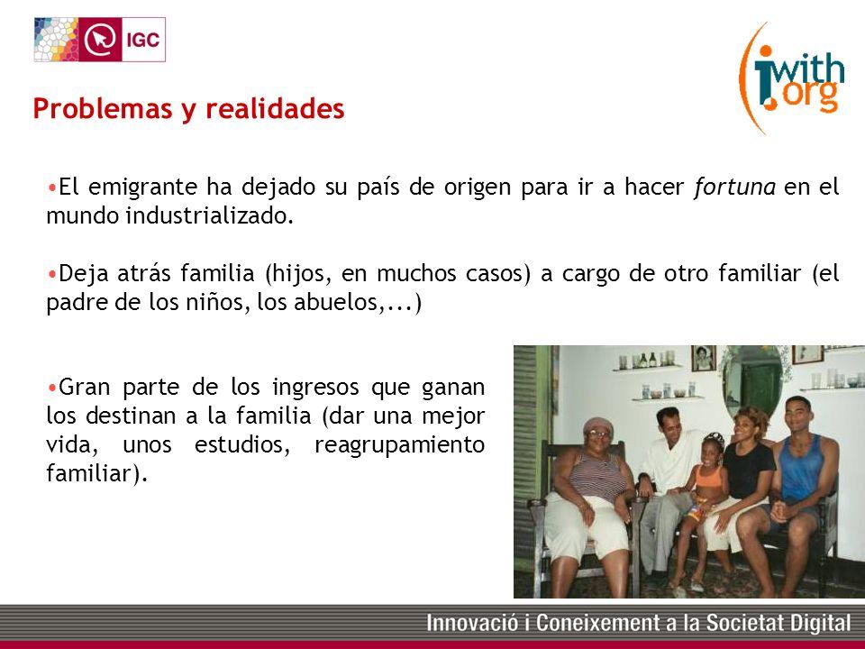 www.iwith.org Compradores: emigrantes latinos en países desarrollados.