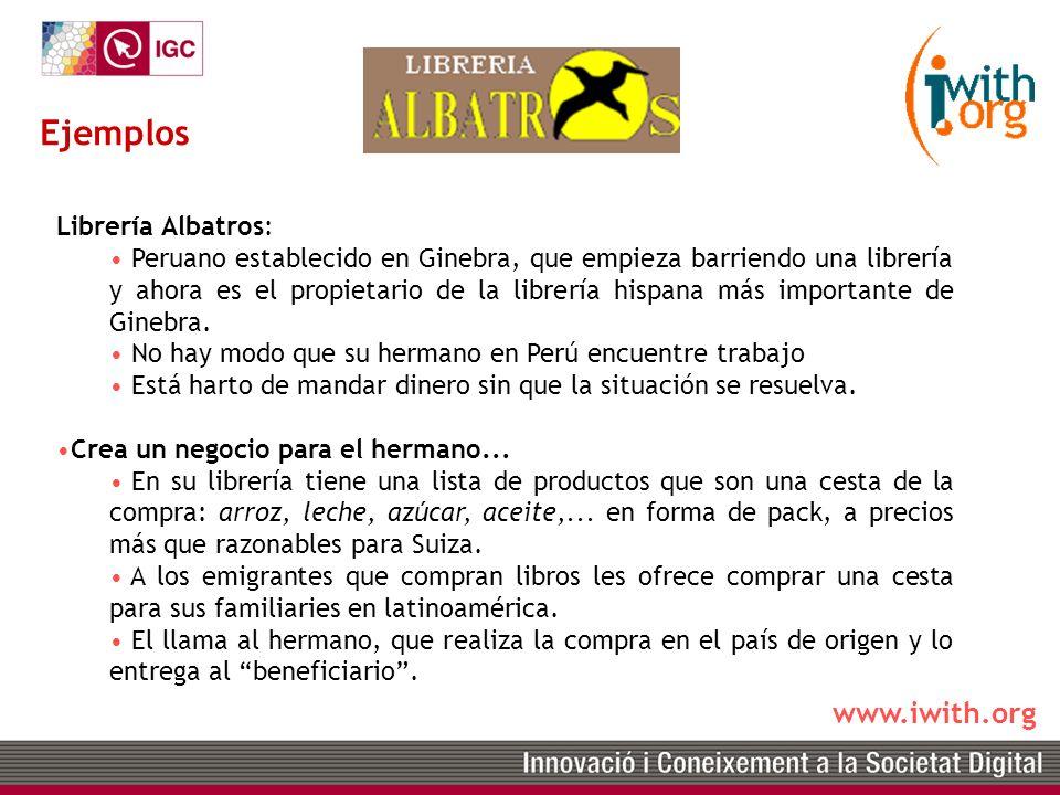 www.iwith.org Librería Albatros: Peruano establecido en Ginebra, que empieza barriendo una librería y ahora es el propietario de la librería hispana más importante de Ginebra.