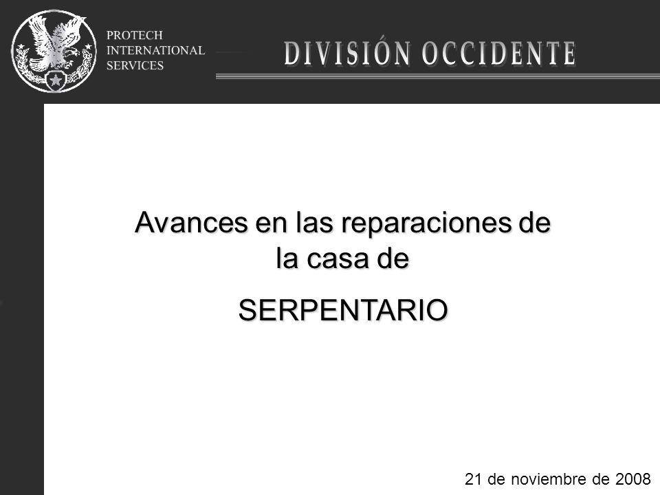 Avances en las reparaciones de la casa de SERPENTARIO 21 de noviembre de 2008