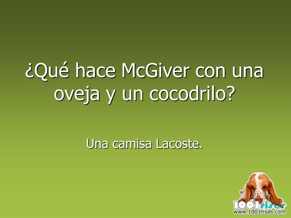 ¿Qué hace McGiver con una oveja y un cocodrilo? Una camisa Lacoste.