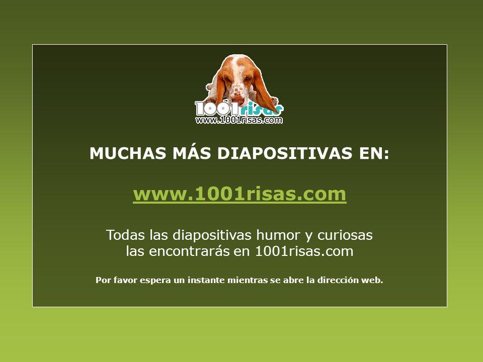 MUCHAS MÁS DIAPOSITIVAS EN: www.1001risas.com Todas las diapositivas humor y curiosas las encontrarás en 1001risas.com Por favor espera un instante mi