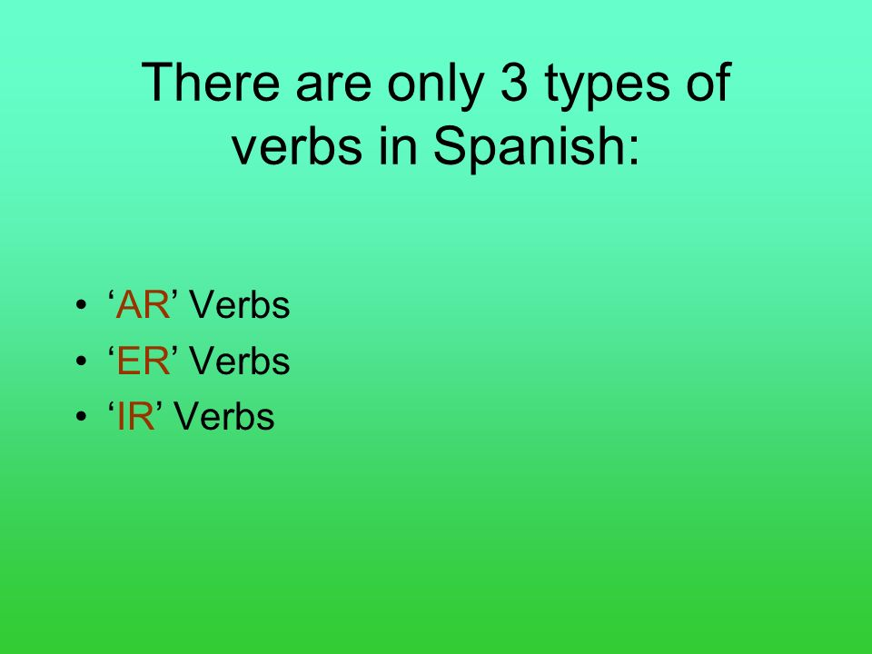 BUT WAIT!.This is an ER verb!.