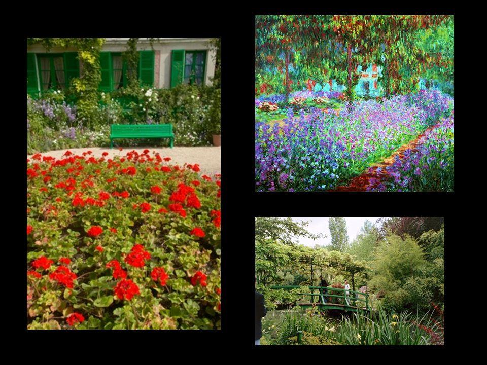 La casa de Monet se distingue con facilidad.