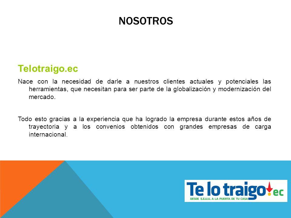 NOSOTROS Telotraigo.ec Nace con la necesidad de darle a nuestros clientes actuales y potenciales las herramientas, que necesitan para ser parte de la
