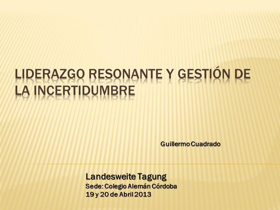 Landesweite Tagung Sede: Colegio Alemán Córdoba 19 y 20 de Abril 2013 Guillermo Cuadrado