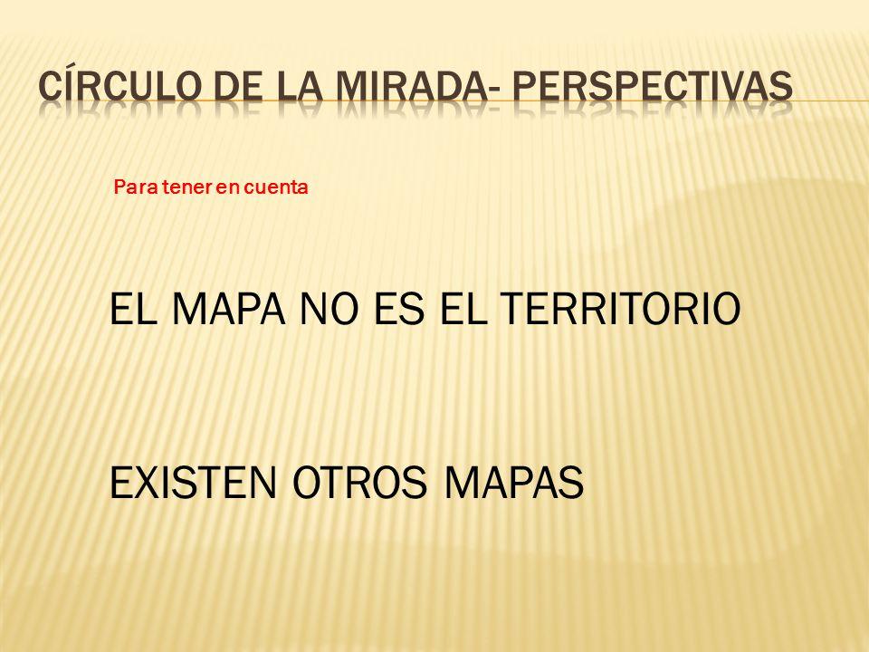 Para tener en cuenta EL MAPA NO ES EL TERRITORIO EXISTEN OTROS MAPAS