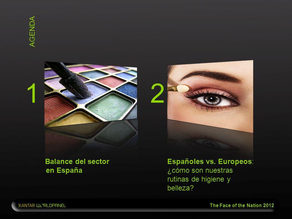 The Face of the Nation 2012 AGENDA Balance del sector en España Españoles vs. Europeos: ¿cómo son nuestras rutinas de higiene y belleza? 12