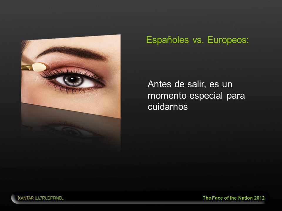 The Face of the Nation 2012 Españoles vs. Europeos: Antes de salir, es un momento especial para cuidarnos