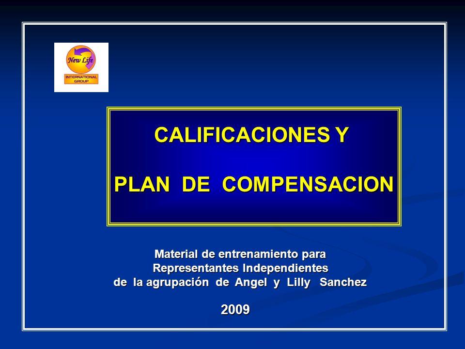 CALIFICACIONES Y PLAN DE COMPENSACION Material de entrenamiento para Representantes Independientes Representantes Independientes de la agrupación de A