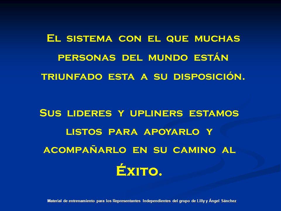 Solo falta: Material de entrenamiento para los Representantes Independientes del grupo de Lilly y Ángel Sánchez