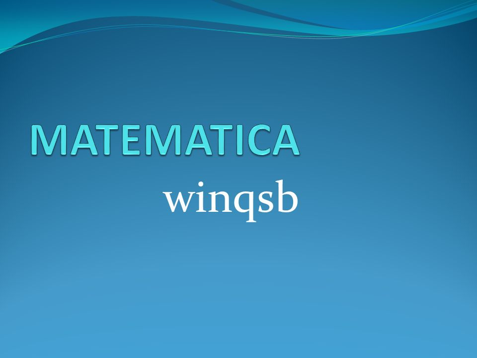 winqsb
